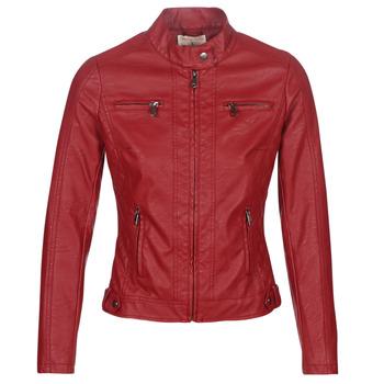 衣服 女士 皮夹克/ 人造皮革夹克 Moony Mood AW075-ROUGE 红色