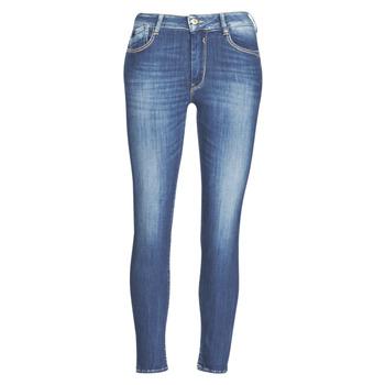 衣服 女士 紧身牛仔裤 Le Temps des Cerises PULP SLIM TAILLE HAUTE 7/8 蓝色