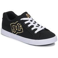 鞋子 女士 球鞋基本款 DC Shoes CHELSEA TX 黑色 / 金色