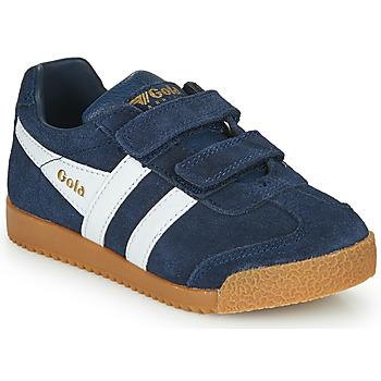 鞋子 儿童 球鞋基本款 Gola HARRIER VELCRO 海蓝色
