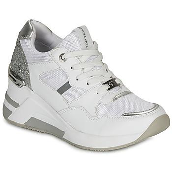 鞋子 女士 球鞋基本款 Tom Tailor 汤姆裁缝  白色 / 银灰色