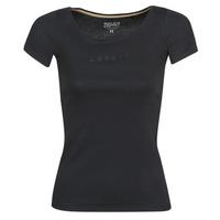 衣服 女士 短袖体恤 Esprit 埃斯普利 T-SHIRTS LOGO 黑色