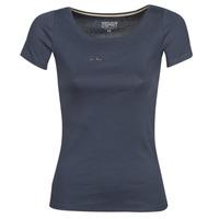衣服 女士 短袖体恤 Esprit 埃斯普利 T-SHIRTS LOGO 海蓝色