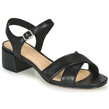鞋子 女士 凉鞋 Clarks 其乐 SHEER35 STRAP 黑色