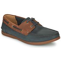 鞋子 男士 德比 Clarks 其乐 PICKWELL SAIL 海蓝色 / 棕色