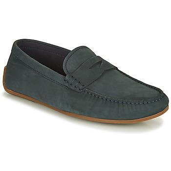 鞋子 男士 皮便鞋 Clarks 其乐 REAZOR PENNY 海蓝色