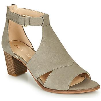 鞋子 女士 凉鞋 Clarks 其乐 KAYLIN60 GLAD 灰褐色