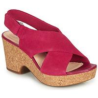 鞋子 女士 凉鞋 Clarks 其乐 MARITSA LARA 玫瑰色