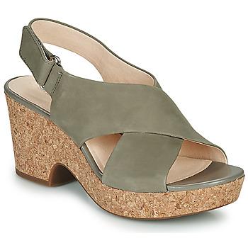 鞋子 女士 凉鞋 Clarks 其乐 MARITSA LARA 灰褐色