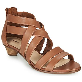 鞋子 女士 凉鞋 Clarks 其乐 MENA SILK 驼色
