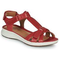 鞋子 女士 凉鞋 Clarks 其乐 UN ADORN VIBE 红色