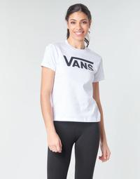 衣服 女士 长袖T恤 Vans 范斯 FLYING V CREW TEE 白色