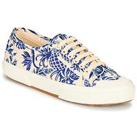 鞋子 女士 球鞋基本款 Superga 2294-COTFANW 米色 / 蓝色