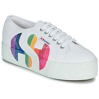 鞋子 女士 球鞋基本款 Superga 2790-COTWPRINTEDLOGOGLITTER 白色