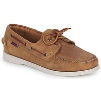 鞋子 女士 船鞋 Sebago 仕品高 DOCKSIDES PORTLAND CRAZY H W 棕色