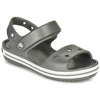 鞋子 儿童 运动凉鞋 crocs 卡骆驰 CROCBAND SANDAL KIDS 黑色 / 白色