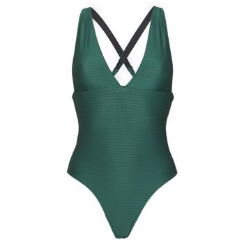 衣服 女士 单件泳装 Banana Moon ODALIS ROMEO 绿色 / Fonce