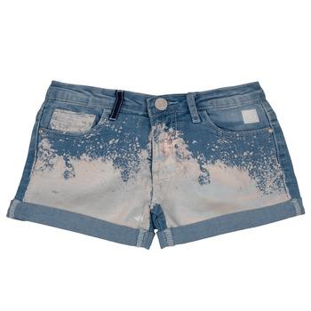 衣服 女孩 短裤&百慕大短裤 Desigual JORBA 蓝色