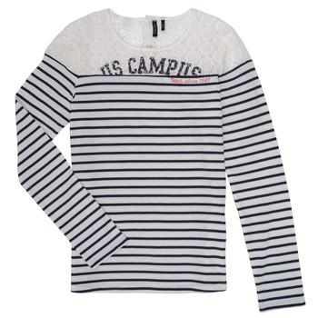 衣服 女孩 长袖T恤 Ikks DELLYSE 白色 / 黑色