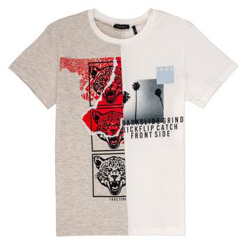 衣服 男孩 短袖體恤 Ikks RULIO 米色 / 白色