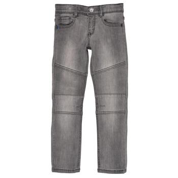 衣服 男孩 紧身牛仔裤 Ikks GOELLON 灰色