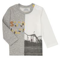 衣服 男孩 长袖T恤 Ikks MAELINO 灰色