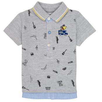 衣服 男孩 短袖保罗衫 Ikks MAELYS 灰色