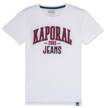 衣服 男孩 短袖体恤 Kaporal ERNIE 白色
