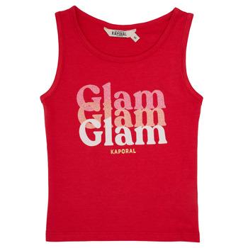 衣服 女孩 无领短袖套衫/无袖T恤 Kaporal JUIN 红色