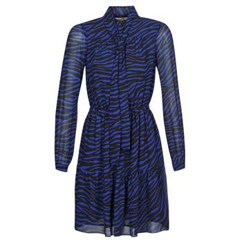衣服 女士 短裙 Michael by Michael Kors BOLD BENGAL TIER DRS 蓝色 / 黑色