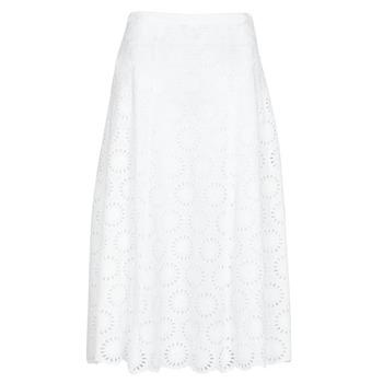 衣服 女士 半身裙 Michael by Michael Kors FLORAL EYLT LNG SKIRT 白色