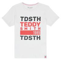 衣服 男孩 短袖体恤 Teddy Smith 泰迪 史密斯 DUSTIN 白色