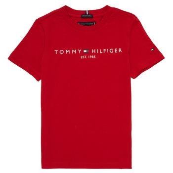 衣服 男孩 短袖体恤 Tommy Hilfiger  红色