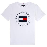 衣服 男孩 短袖体恤 Tommy Hilfiger KB0KB05718 白色