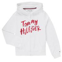 衣服 女孩 卫衣 Tommy Hilfiger KG0KG05043 白色