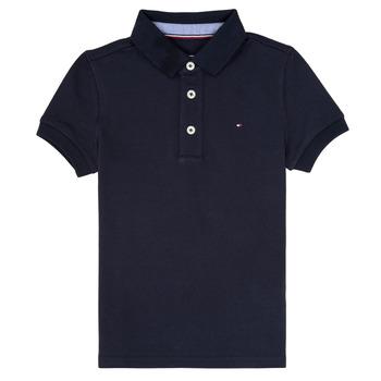 衣服 男孩 短袖保罗衫 Tommy Hilfiger KB0KB03975 海蓝色
