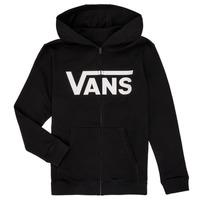 衣服 男孩 卫衣 Vans 范斯 BY VANS CLASSIC ZIP HOODIE 黑色