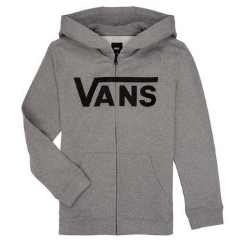 衣服 男孩 卫衣 Vans 范斯 BY VANS CLASSIC ZIP HOODIE 灰色