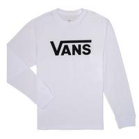 衣服 男孩 长袖T恤 Vans 范斯 BY VANS CLASSIC LS 白色