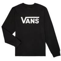 衣服 男孩 长袖T恤 Vans 范斯 BY VANS CLASSIC LS 黑色