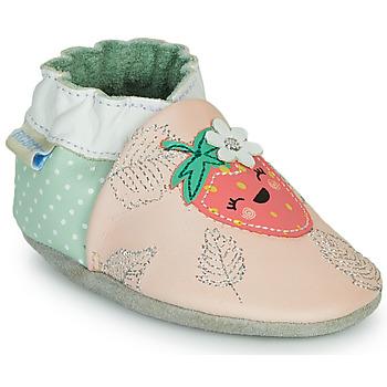 鞋子 女孩 拖鞋 Robeez FRUIT'S PARTY 玫瑰色 / 绿色