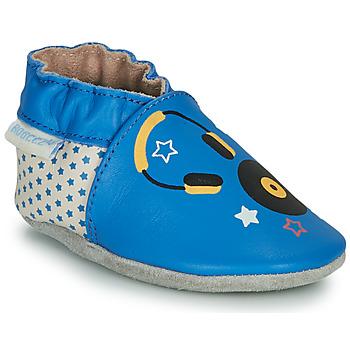 鞋子 儿童 拖鞋 Robeez MUSIC SOUND 蓝色 / 米色