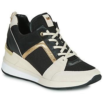 鞋子 女士 球鞋基本款 Michael by Michael Kors GEORGIE 黑色 / 米色 / 金色