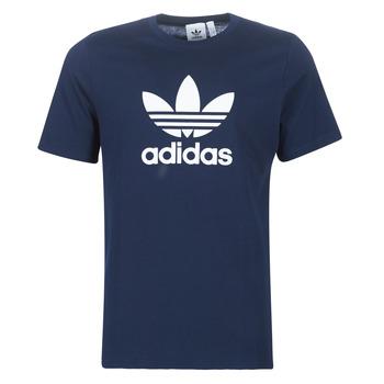 衣服 男士 短袖体恤 Adidas Originals 阿迪达斯三叶草 ED4715 海蓝色