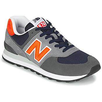 鞋子 男士 球鞋基本款 New Balance新百伦 574 灰色 / 橙色