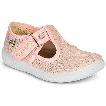 鞋子 女孩 平底鞋 Citrouille et Compagnie MATITO 玫瑰色 / 金属光泽