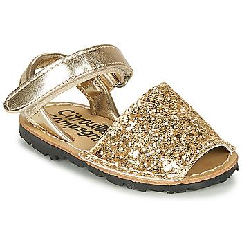 鞋子 女孩 凉鞋 Citrouille et Compagnie SQUOUBEL 金色
