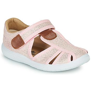 鞋子 女孩 凉鞋 Citrouille et Compagnie GUNCAL 玫瑰色 / 金属光泽