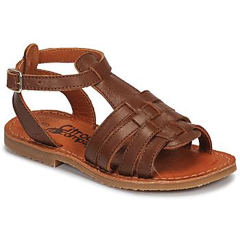 鞋子 女孩 凉鞋 Citrouille et Compagnie MINIBOU 棕色