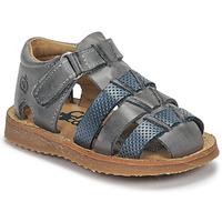 鞋子 男孩 凉鞋 Citrouille et Compagnie MISTIGRI 灰色 / 蓝色